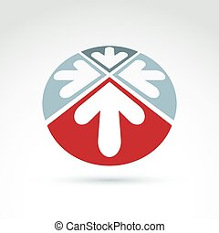 Vector abstract 3D icon, arrow