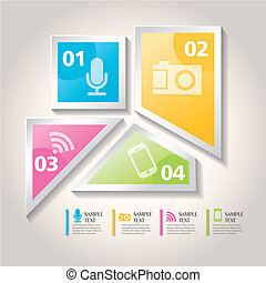 vector abstract 3d icon infographics