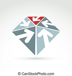 Vector abstract 3D icon