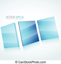 abstract 3d mirror background
