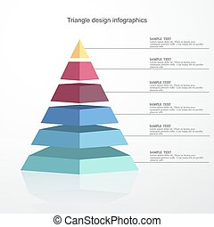 vector abstract 3d Pyramid type infographic elements EPS10