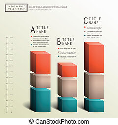 vector, abstract, 3d, tabel, infographics