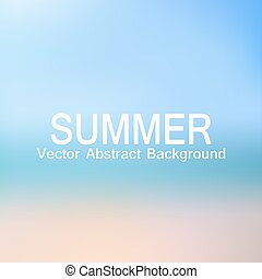 vector, abstract, achtergrond, oceaan, strand