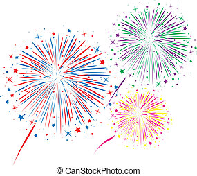 vector abstract anniversary bursting fireworks