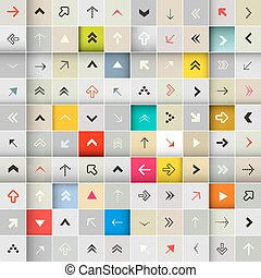 Vector Abstract Arrows in Squares Seamless Background