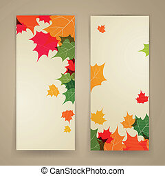 Vector Abstract Autumn Banners