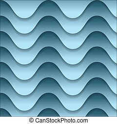 vector abstract backdrop with blue waves