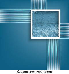 vector abstract backdrop with square frame