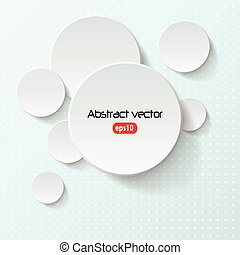 Vector abstract background, 3D overlapping circles, vector...