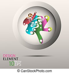 Vector abstract background and design element