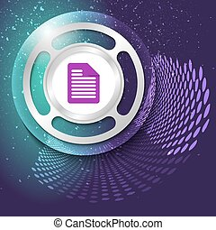 Vector abstract background and silver object with document icon