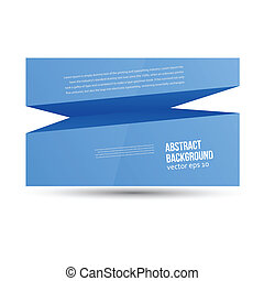 Vector abstract background. Blue space for text