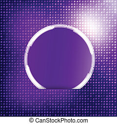 Vector abstract background. Circle blue