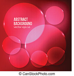 Vector abstract background. Circle red