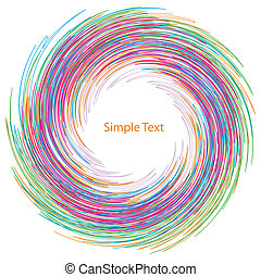 Vector abstract background for text