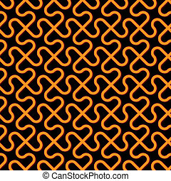 Vector abstract background - freakish seamless pattern -...