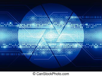 vector abstract background future technology, illustration