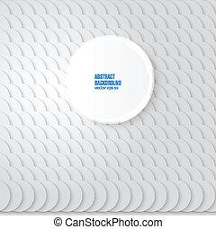 Vector abstract background. Gray Circles
