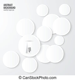 Vector abstract background. Gray Circles