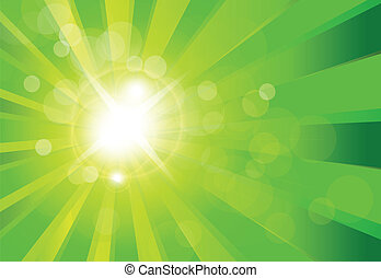Vector abstract background green bo