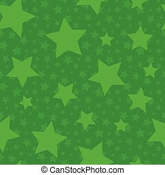 Green Seamless Pattern with Stars