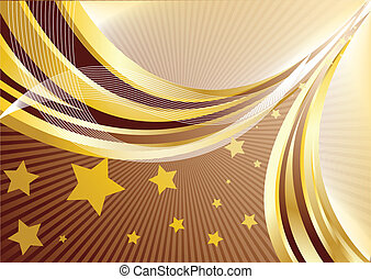 Vector abstract background in chocolate color; clip-art