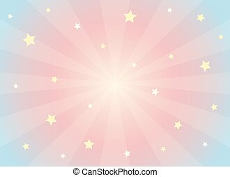 Kawaii dreams background - Vector abstract background in...