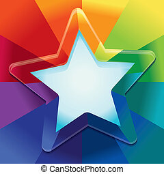 Vector abstract background in rainbow colours with copy space for text - design template