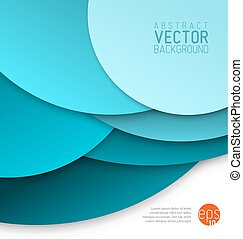 Vector abstract background made from blue circles