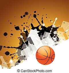abstract background of basketball