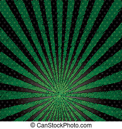 Vector abstract background of green star burst .