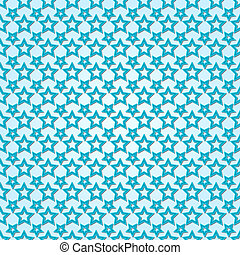 Vector abstract background seamless pattern with stars