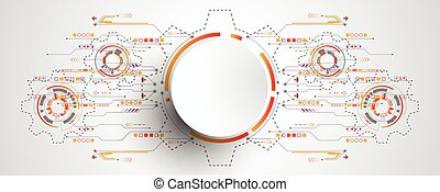 Vector abstract background shows the innovation of...