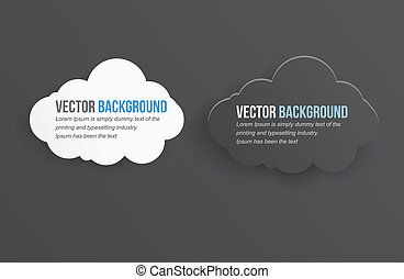 Vector abstract background thunderstorm cloud. Paper