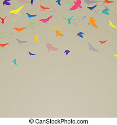 Vector Abstract Background with Birds