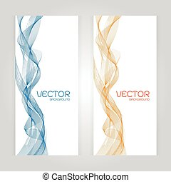 vector abstract background with blue Orange wave