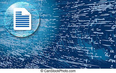 Vector abstract background with scratches and document icon