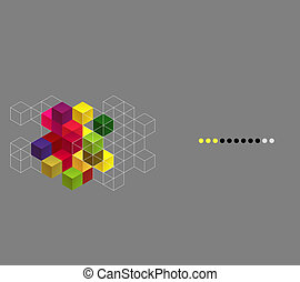 Vector abstract background with color cubes