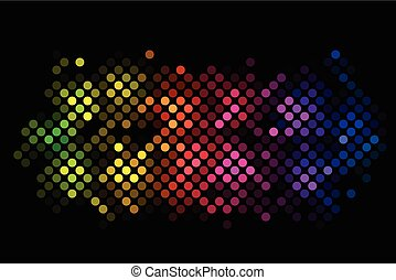 Vector abstract background with colorful lights