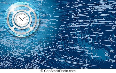 Vector abstract background with scratches and watches