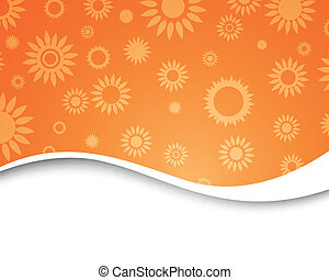 Vector Abstract Background with Flowers