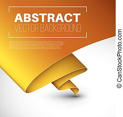 Vector abstract background with folded yellow paper