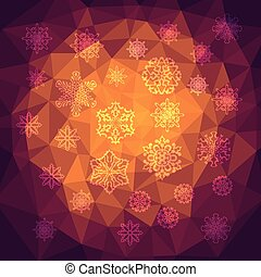 Vector  Abstract Background with snowflakes