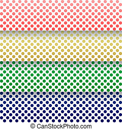 Vector abstract background with lines, colored circles and shadows