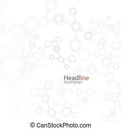 Vector abstract background with molecule structure. Science connection concept design