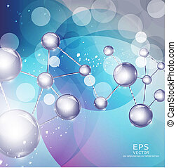 abstract background with molecules - vector abstract ...
