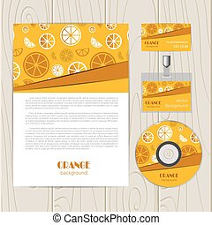 Vector abstract background with orange