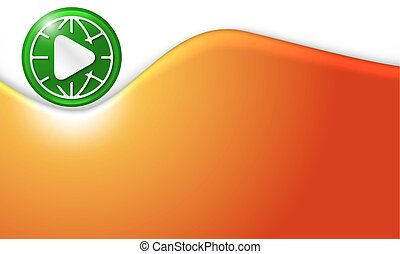 Vector abstract background with play icon