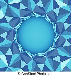 Background with crystal or ice