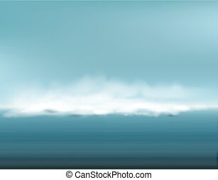 Vector abstract background with restless seascape (clouds,...